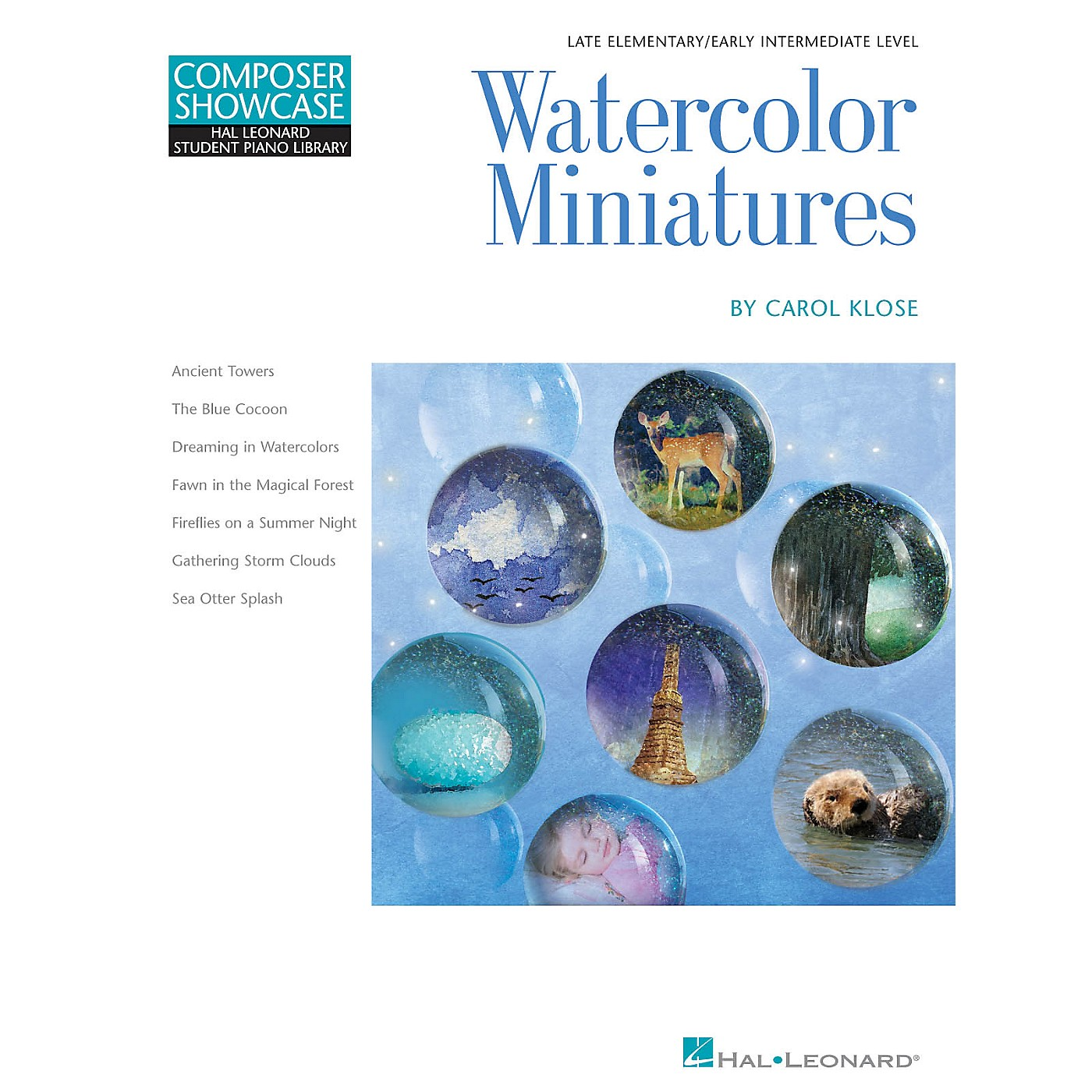Hal Leonard Watercolor Miniatures Piano Library Series Book by Carol Klose (Level Late Elem to Early Inter) thumbnail