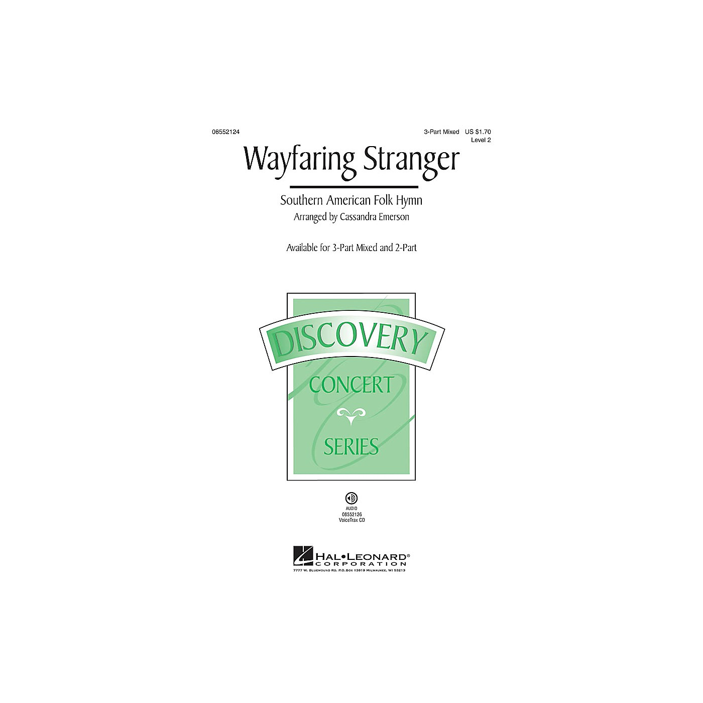 Hal Leonard Wayfaring Stranger (Discovery Level 2) 2-Part Arranged by Cassandra Emerson thumbnail
