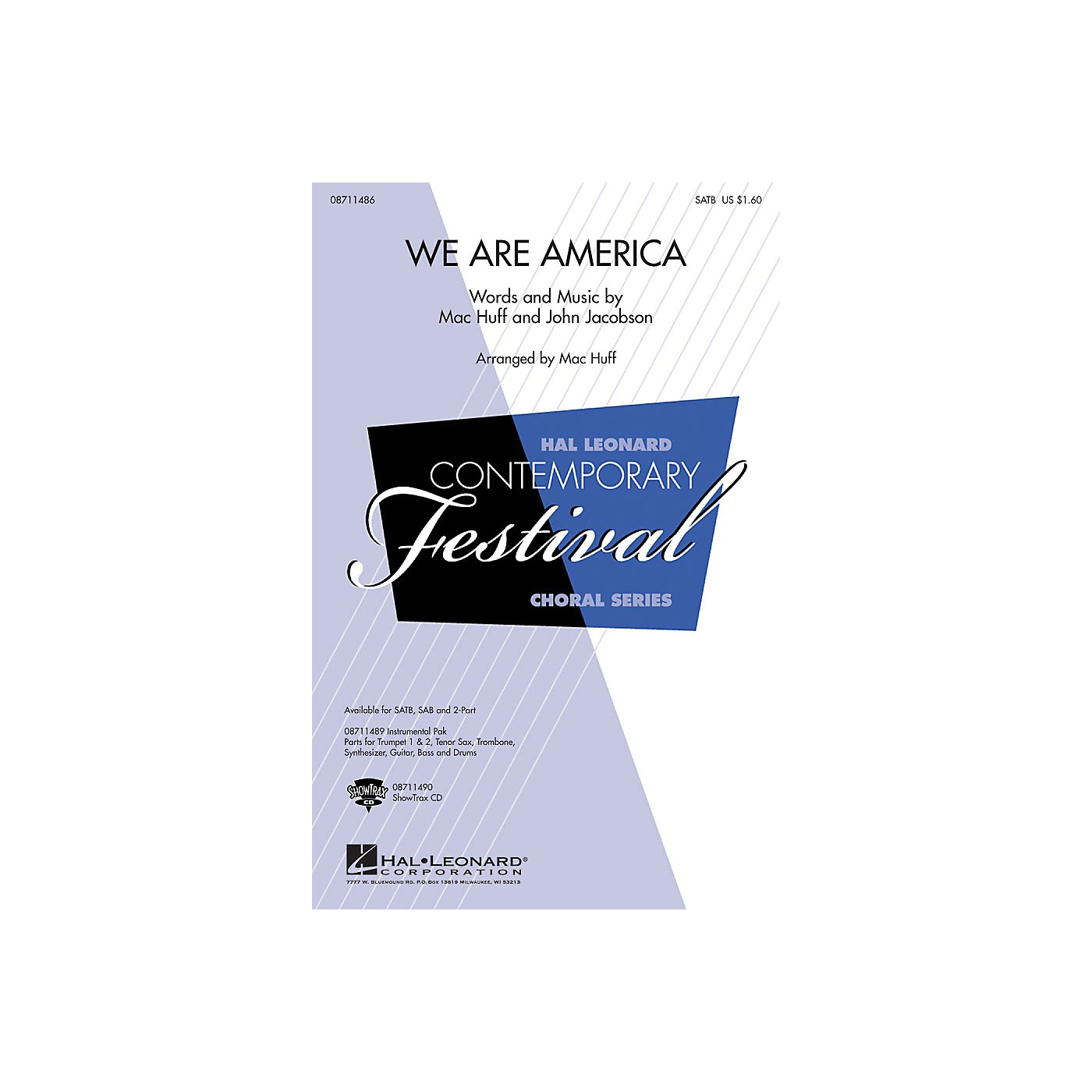 Hal Leonard We Are America 2-Part Arranged by Mac Huff thumbnail