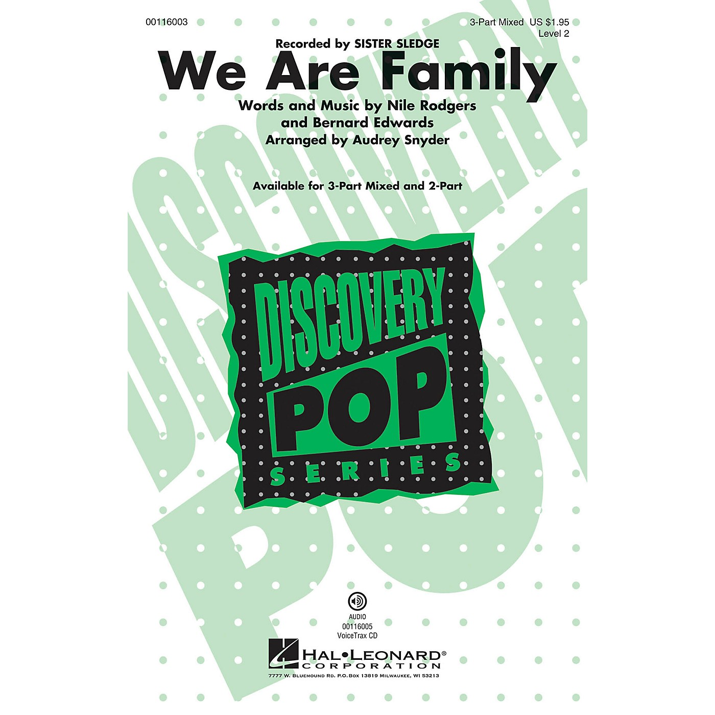 Hal Leonard We Are Family (Discovery Level 2 2-Part) 2-Part by Sister Sledge Arranged by Audrey Snyder thumbnail
