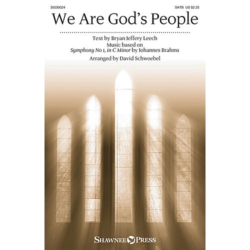 Shawnee Press We Are God's People SATB arranged by David Schwoebel thumbnail