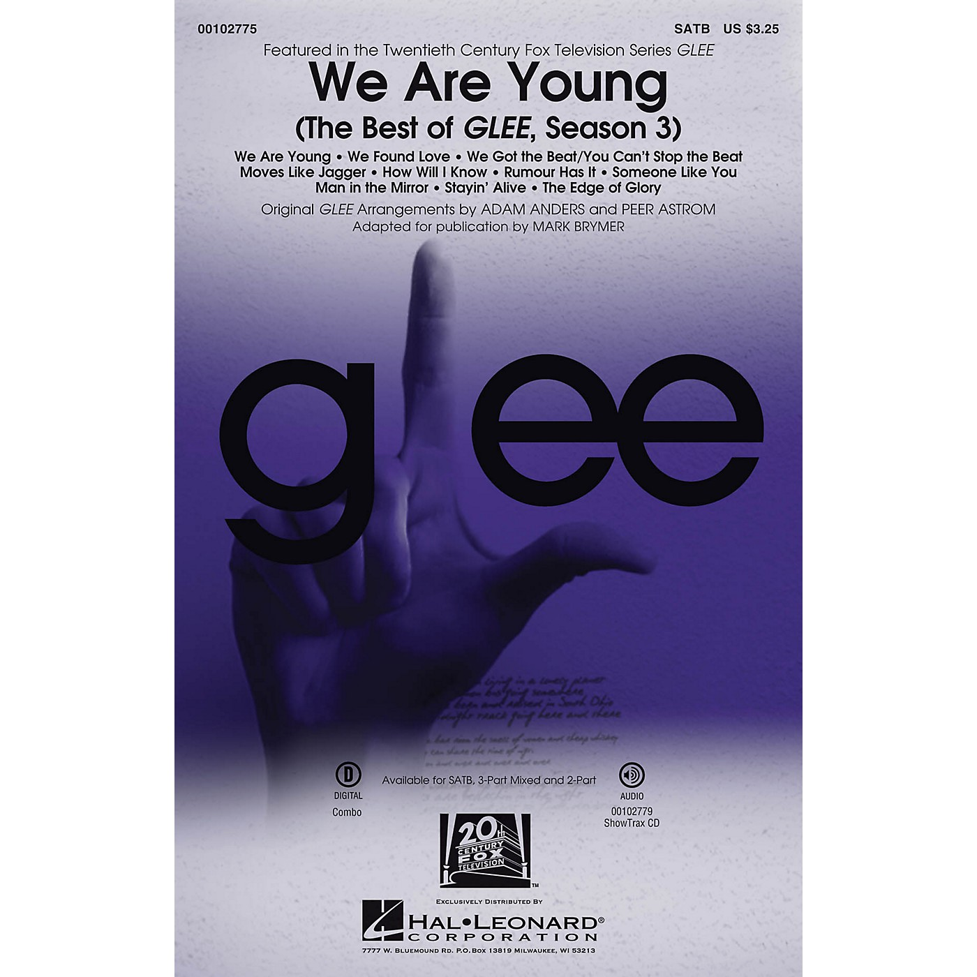 Hal Leonard We Are Young (The Best of Glee, Season 3 Medley) 3-Part Mixed by Glee Cast Arranged by Adam Anders thumbnail