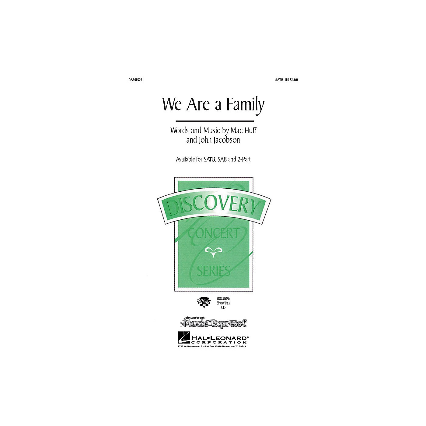 Hal Leonard We Are a Family SAB Composed by John Jacobson thumbnail
