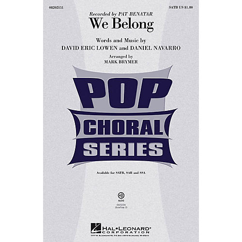 Hal Leonard We Belong SSA by Pat Benatar Arranged by Mark Brymer thumbnail