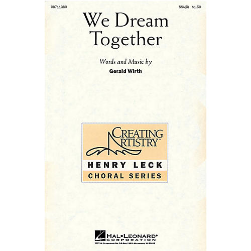 Hal Leonard We Dream Together UNIS Composed by Gerald Wirth thumbnail