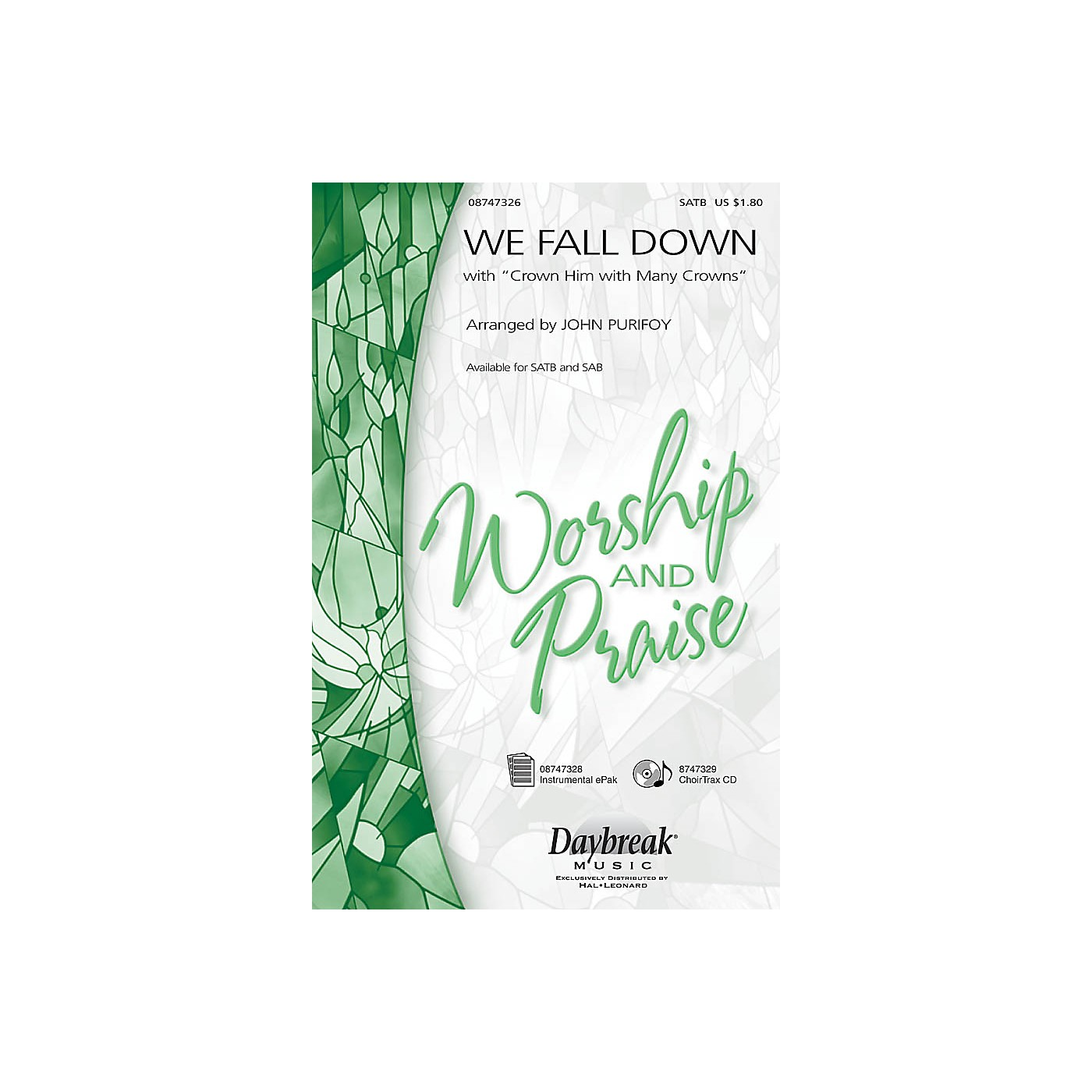 Hal Leonard We Fall Down with Crown Him with Many Crowns SAB Arranged by John Purifoy thumbnail