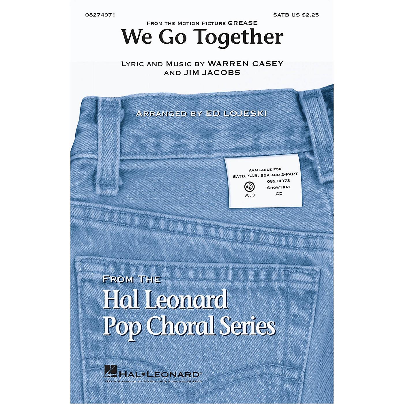 Hal Leonard We Go Together (from Grease) SAB Arranged by Ed Lojeski thumbnail