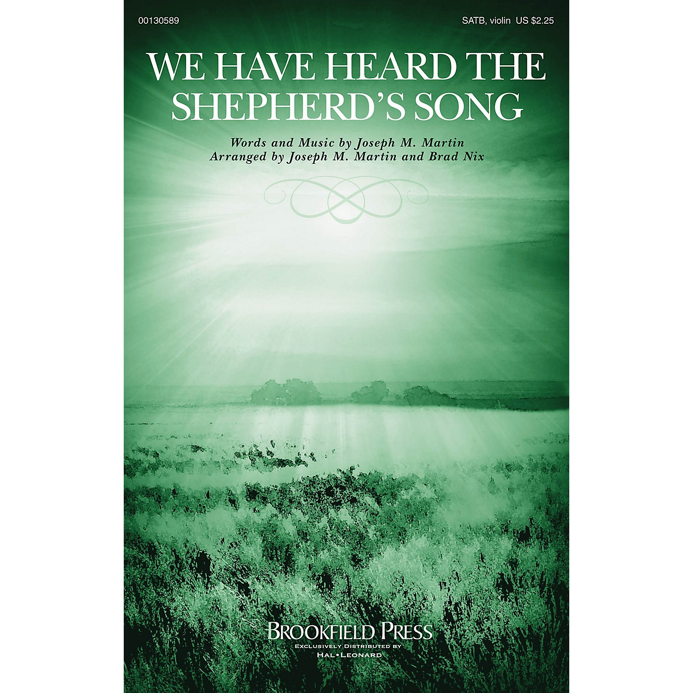 Brookfield We Have Heard the Shepherd's Song SATB W/ VIOLIN arranged by Joseph M. Martin thumbnail