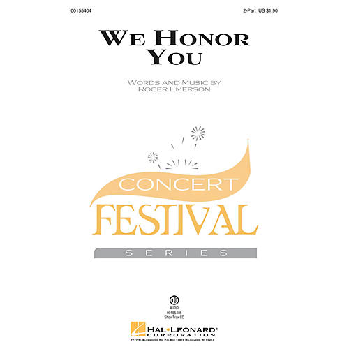 Hal Leonard We Honor You 2-Part composed by Roger Emerson thumbnail