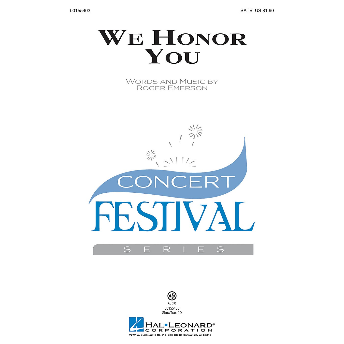 Hal Leonard We Honor You SATB composed by Roger Emerson thumbnail