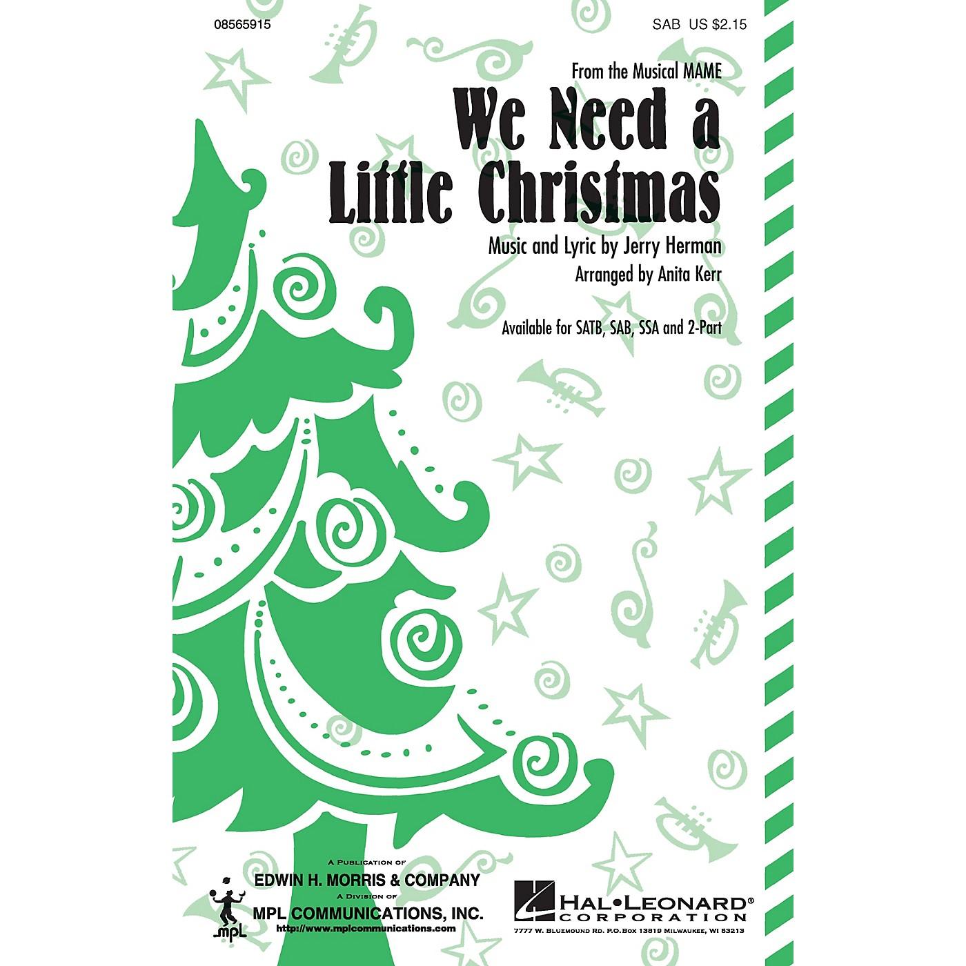 Hal Leonard We Need a Little Christmas SAB arranged by Anita Kerr thumbnail
