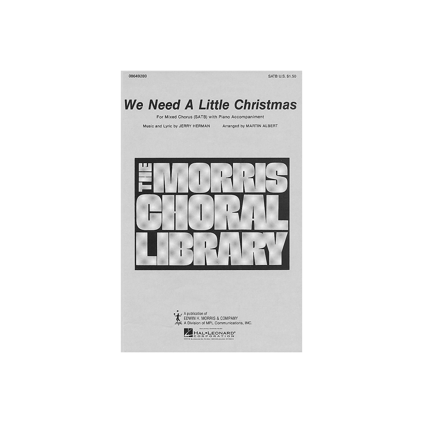 Hal Leonard We Need a Little Christmas (SATB) SATB arranged by Martin Albert thumbnail