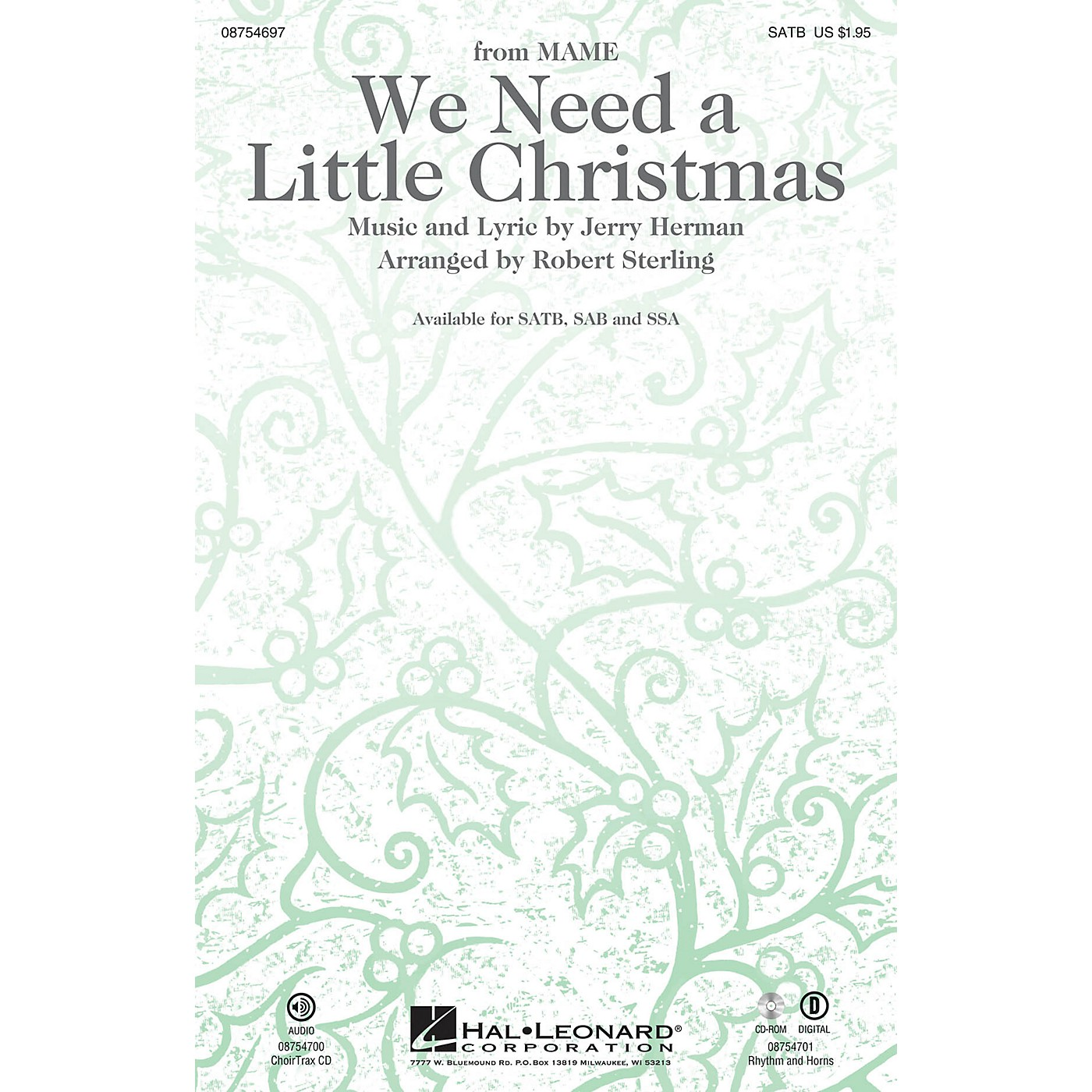 Hal Leonard We Need a Little Christmas (with We Wish You a Merry Christmas) RHYTHM/HORN SECTION by Robert Sterling thumbnail