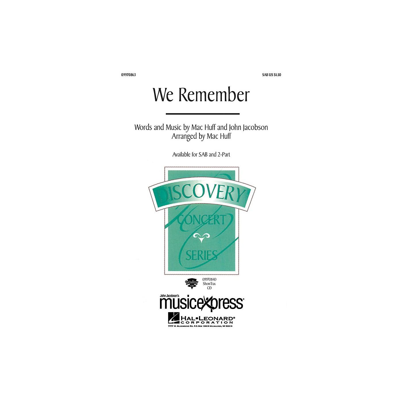 Hal Leonard We Remember SAB Arranged by Mac Huff thumbnail