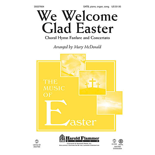 Shawnee Press We Welcome Glad Easter (Choral Hymn Fanfare and Concertato) BRASS/HANDBELL ACCOMP by Mary McDonald thumbnail