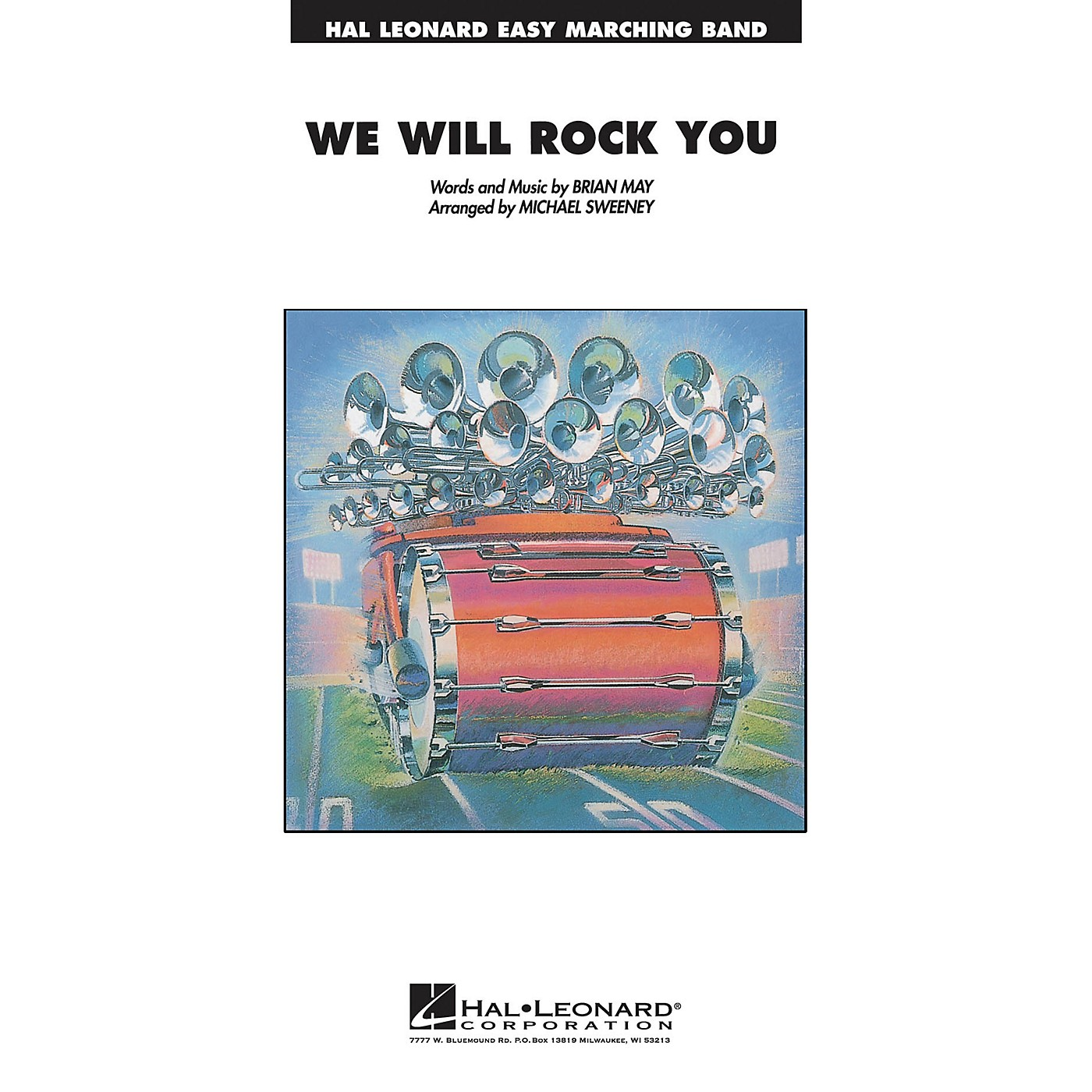 Hal Leonard We Will Rock You Marching Band Level 2-3 Arranged by Michael Sweeney thumbnail