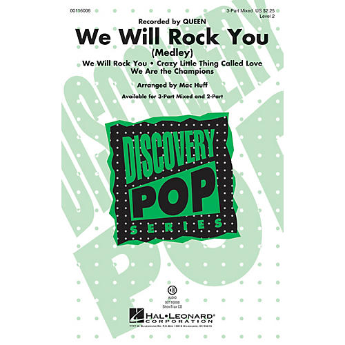 Hal Leonard We Will Rock You (Medley) (Discovery Level 2 2-Part) 2-Part by Queen Arranged by Mac Huff thumbnail