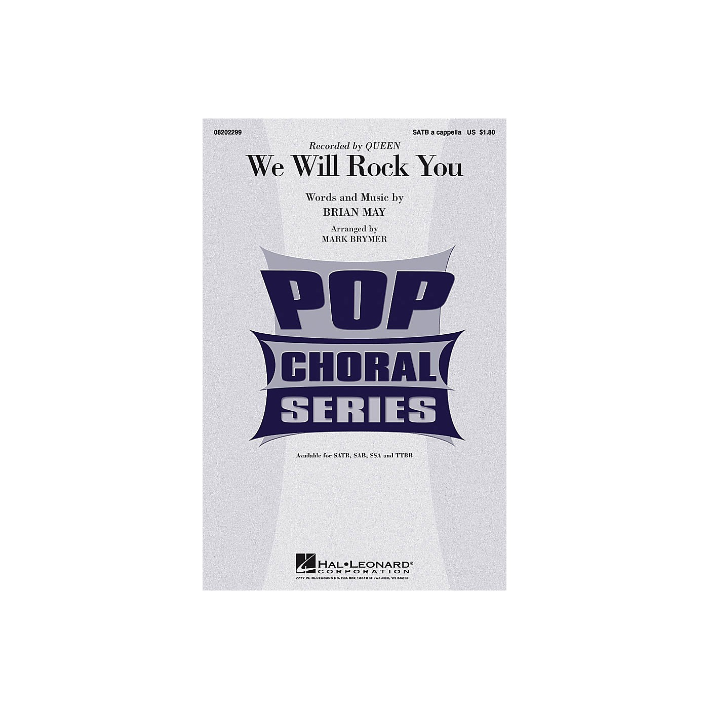 Hal Leonard We Will Rock You SAB A Cappella by Queen Arranged by Mark Brymer thumbnail