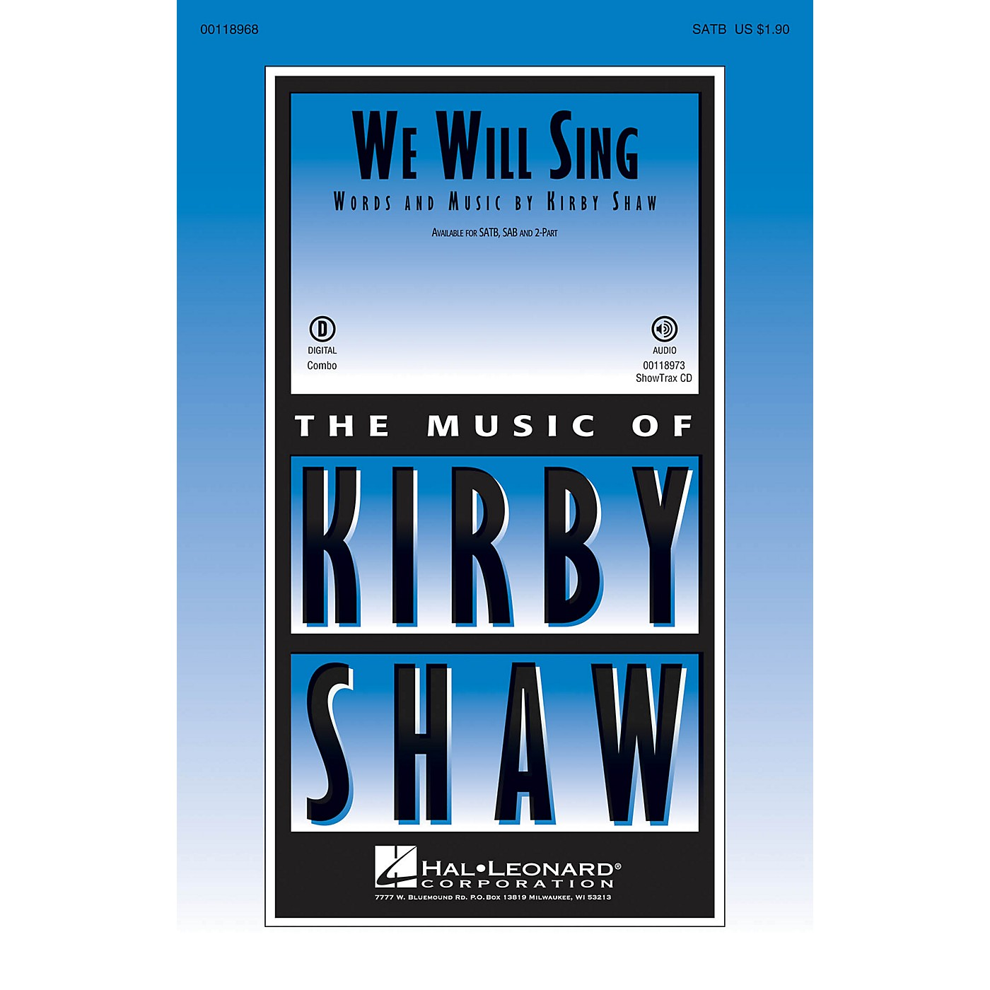 Hal Leonard We Will Sing 2-Part Composed by Kirby Shaw thumbnail