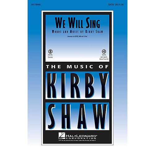 Hal Leonard We Will Sing SAB Composed by Kirby Shaw thumbnail