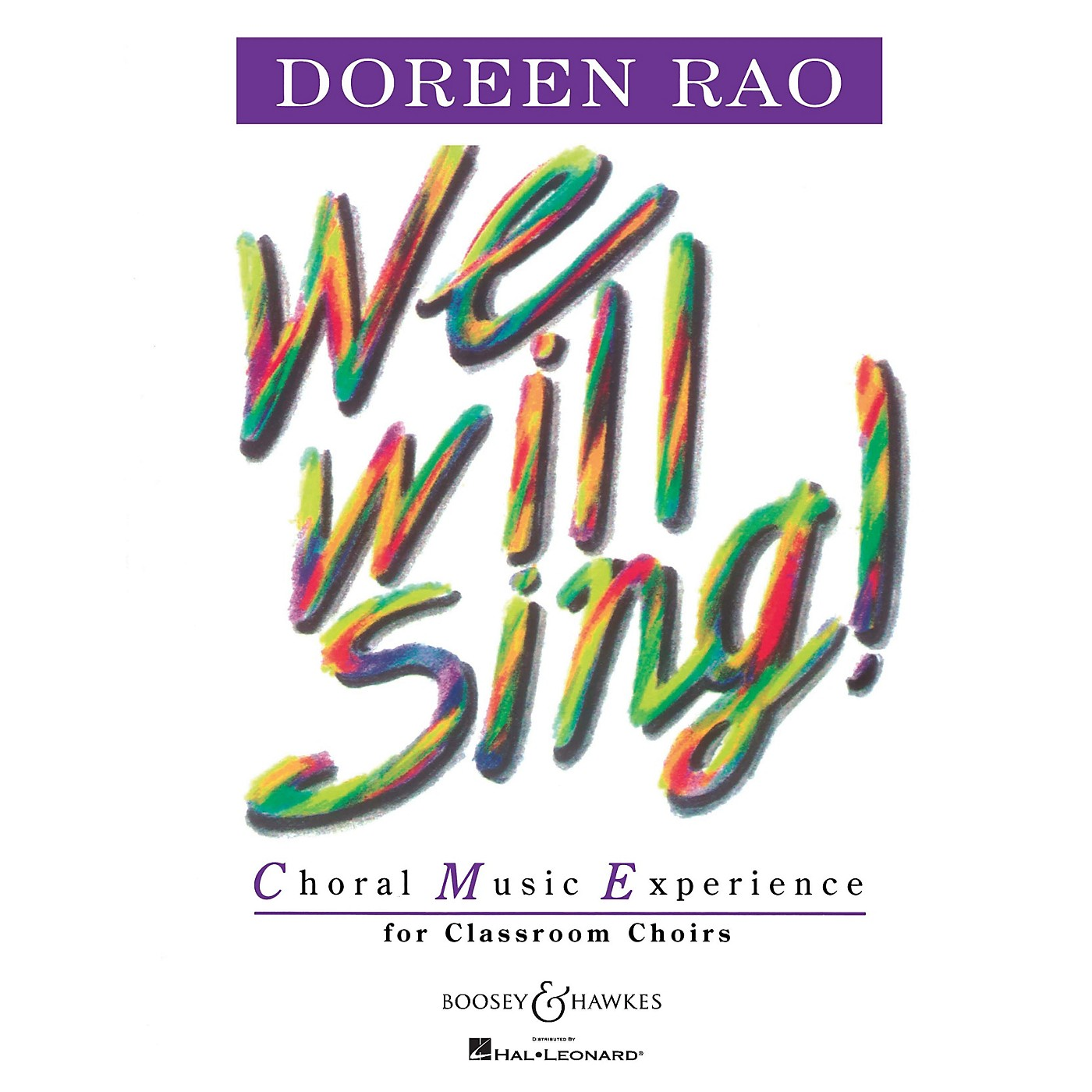 Boosey and Hawkes We Will Sing! (Textbook) Book Composed by Doreen Rao thumbnail