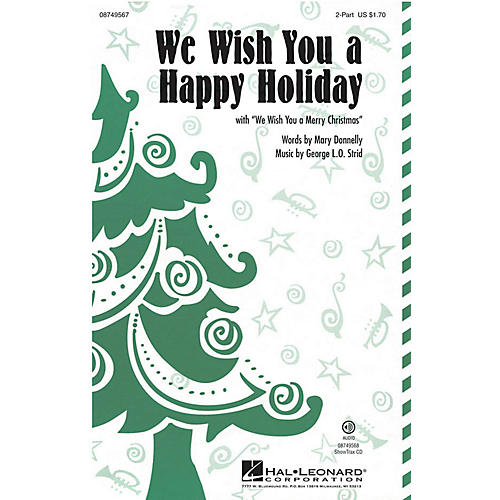 Hal Leonard We Wish You a Happy Holiday (with We Wish You a Merry Christmas) ShowTrax CD Composed by Mary Donnelly thumbnail