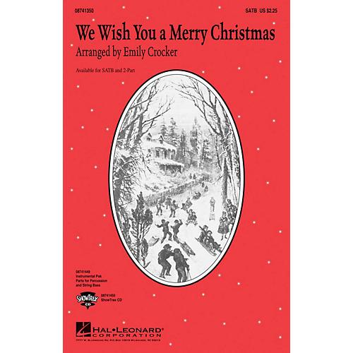 Hal Leonard We Wish You a Merry Christmas SATB arranged by Emily Crocker thumbnail