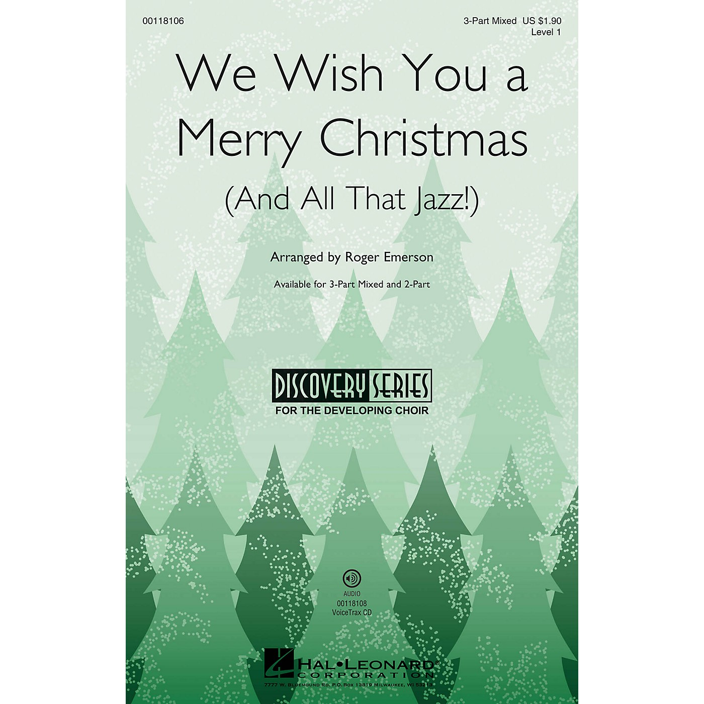 Hal Leonard We Wish You a Merry Christmas (and All That Jazz) (Discovery Level 1) VoiceTrax CD by Roger Emerson thumbnail