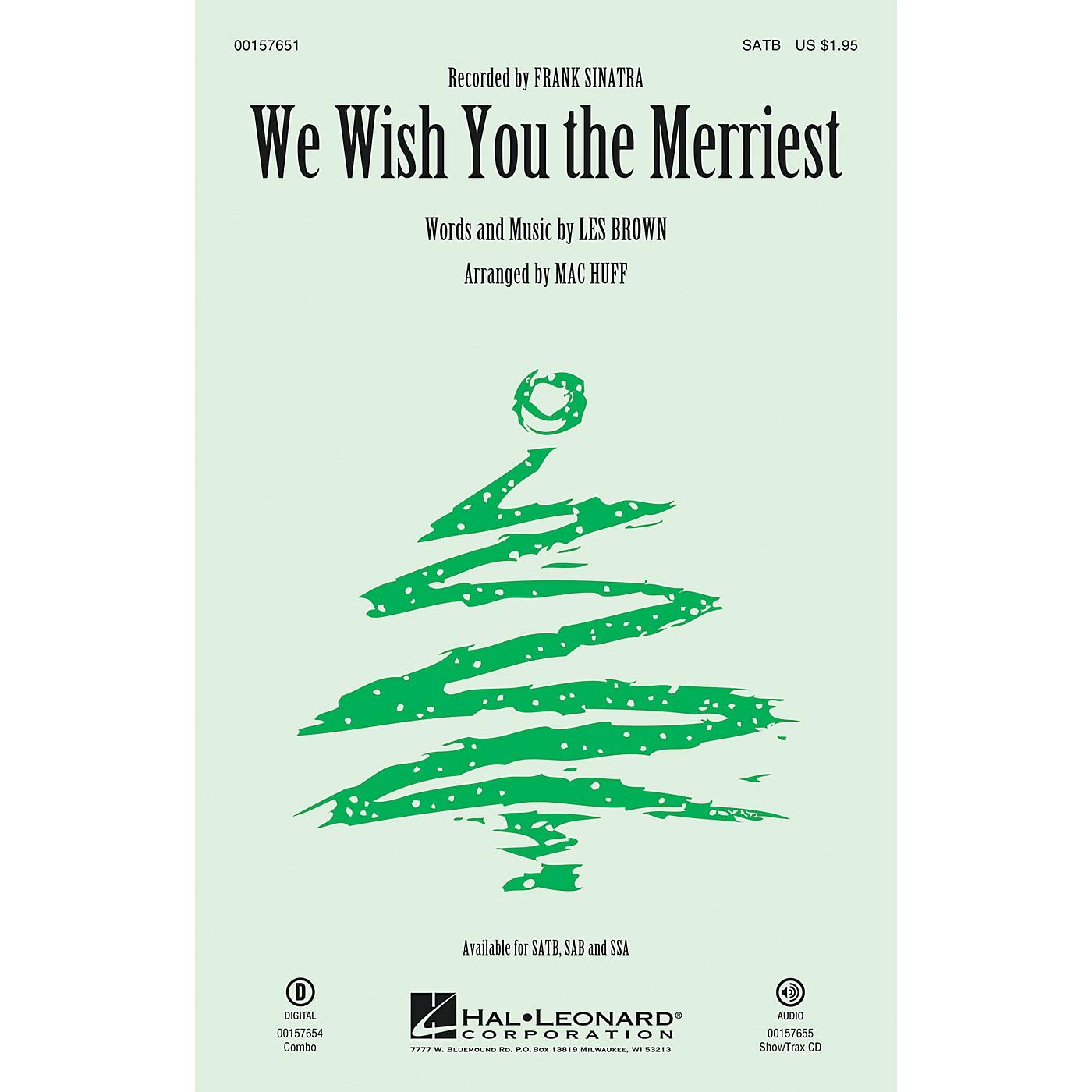 Hal Leonard We Wish You the Merriest SAB by Frank Sinatra Arranged by Mac Huff thumbnail