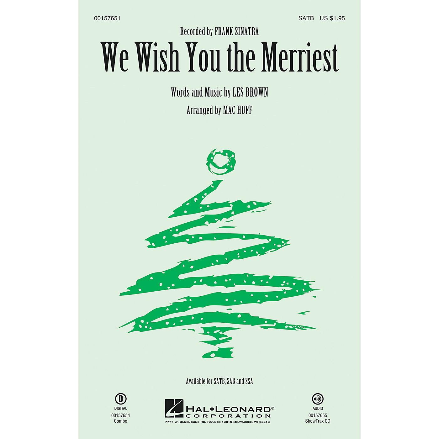 Hal Leonard We Wish You the Merriest SSA by Frank Sinatra Arranged by Mac Huff thumbnail