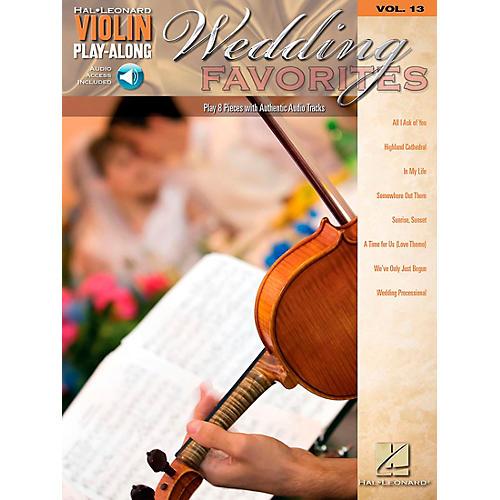 Hal Leonard Wedding Favorites - Violin Play-Along Volume 13 Book/CD thumbnail