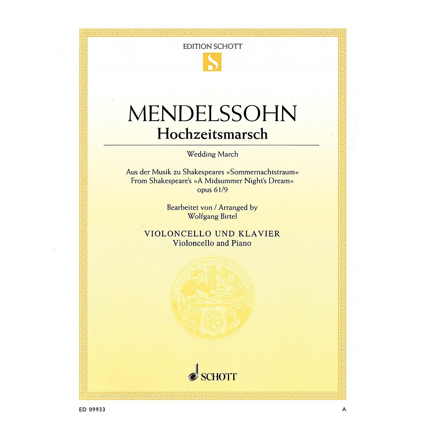 Schott Wedding March - Op. 61, No. 9 from A Midsummer Night's Dream Schott Softcover by Felix Mendelssohn Bartholdy thumbnail