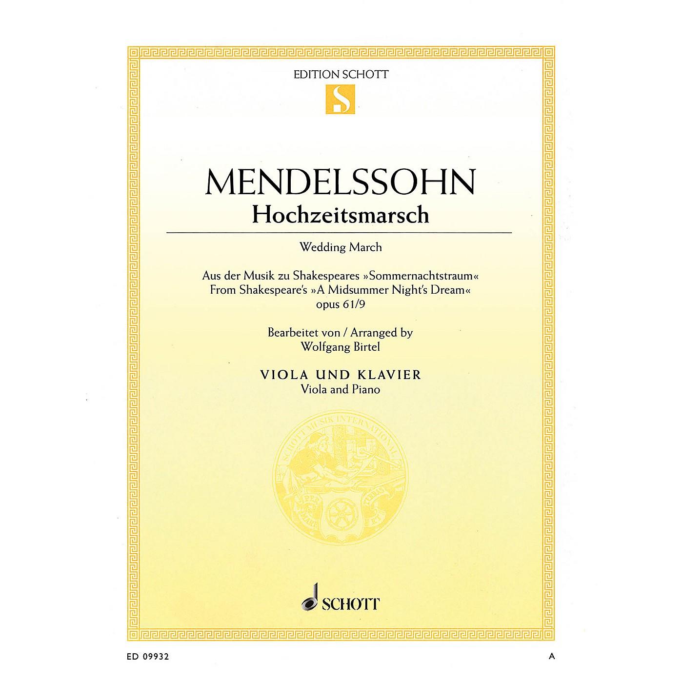Schott Wedding March - Op. 61, No. 9 from A Midsummer Night's Dream by Felix Mendelssohn Bartholdy thumbnail