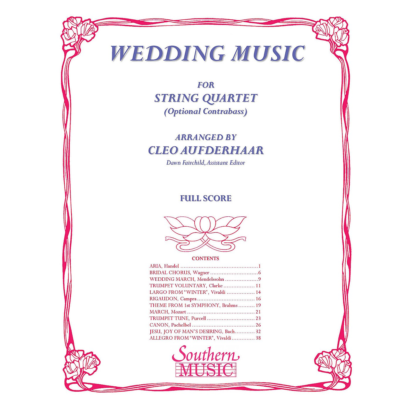 Southern Wedding Music (Conductor Score) Southern Music Series Arranged by Cleo Aufderhaar thumbnail