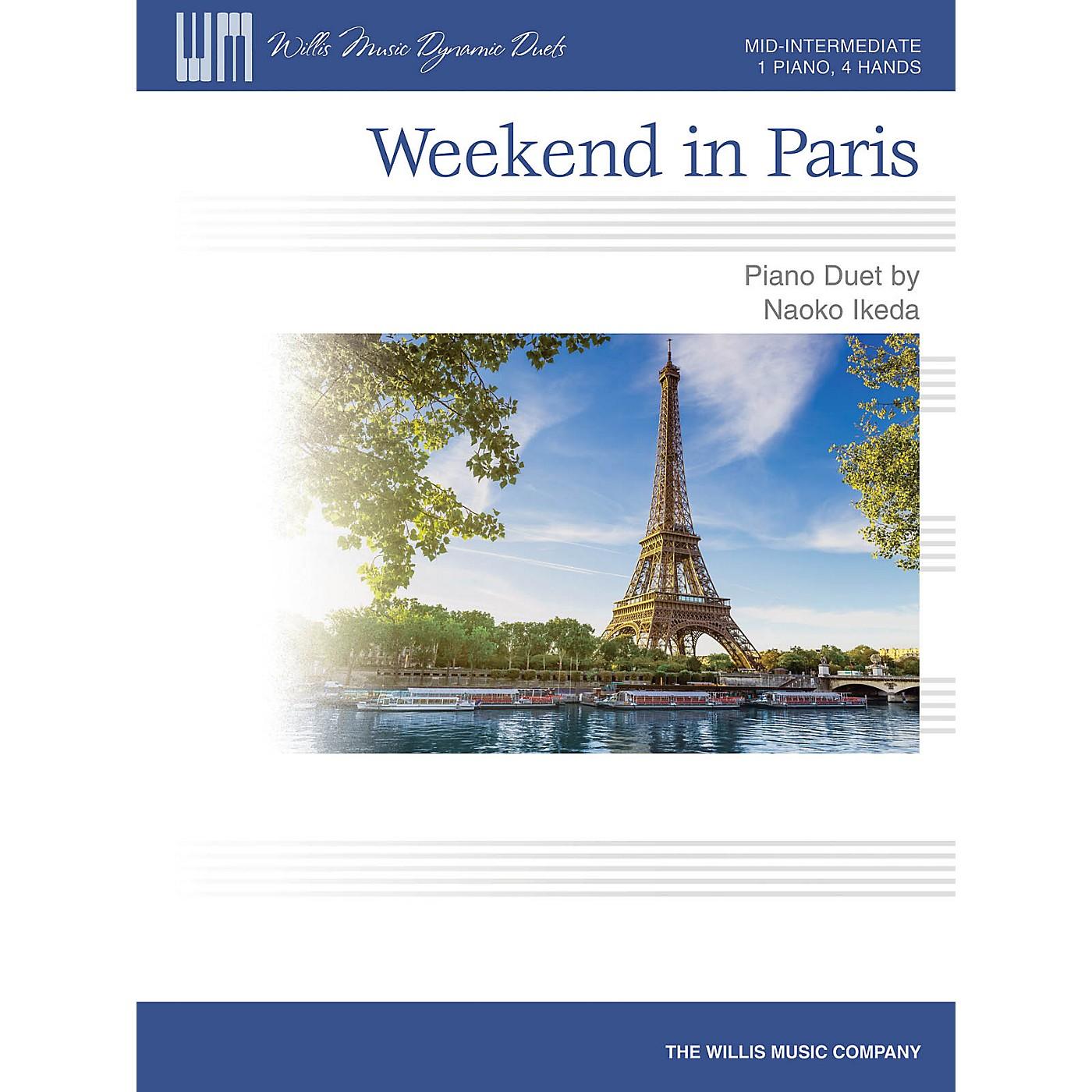 Willis Music Weekend in Paris (Mid-Inter Level 1 Piano, 4 Hands) Willis Series by Naoko Ikeda thumbnail