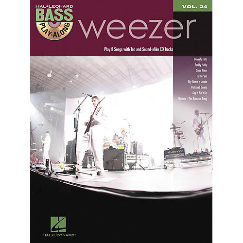 Hal Leonard Weezer - Bass Play-Along Volume 24 Book/CD thumbnail