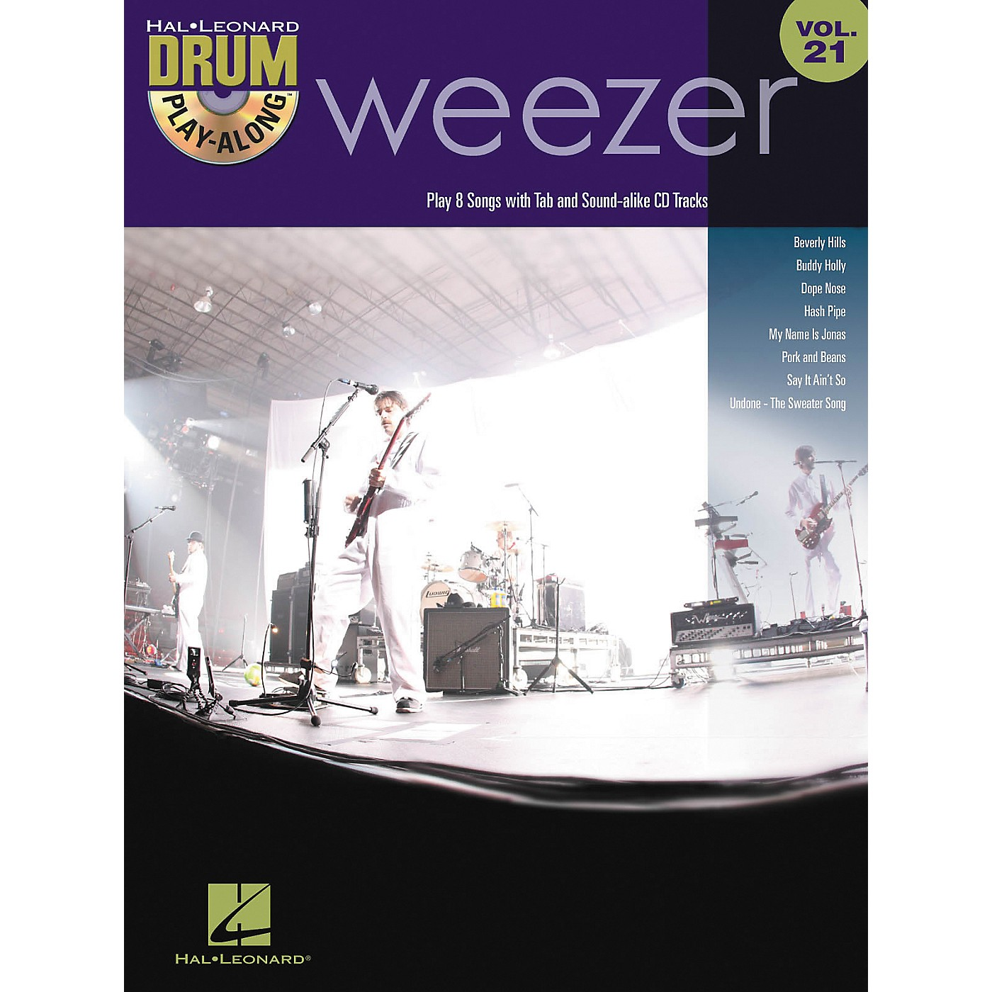 Hal Leonard Weezer - Drum Play-Along Volume 21 Book/CD thumbnail