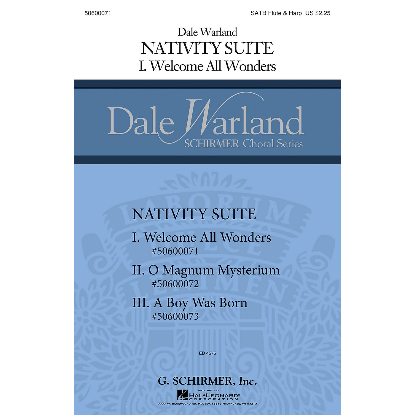 G. Schirmer Welcome All Wonders (Dale Warland Choral Series) SATB with flute & harp composed by Dale Warland thumbnail
