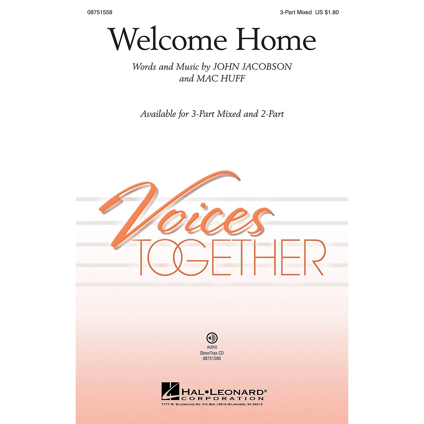 Hal Leonard Welcome Home 2-Part Composed by John Jacobson thumbnail