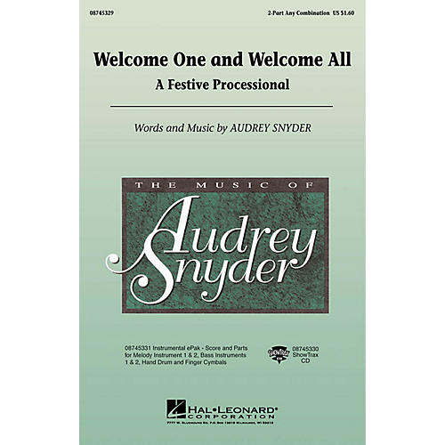 Hal Leonard Welcome One and Welcome All - A Festive Processional 2-Part any combination by Audrey Snyder thumbnail