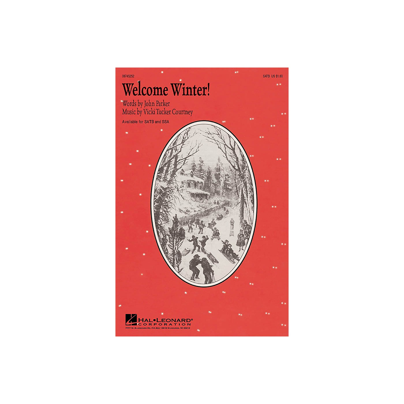 Hal Leonard Welcome Winter! SATB composed by John Parker thumbnail