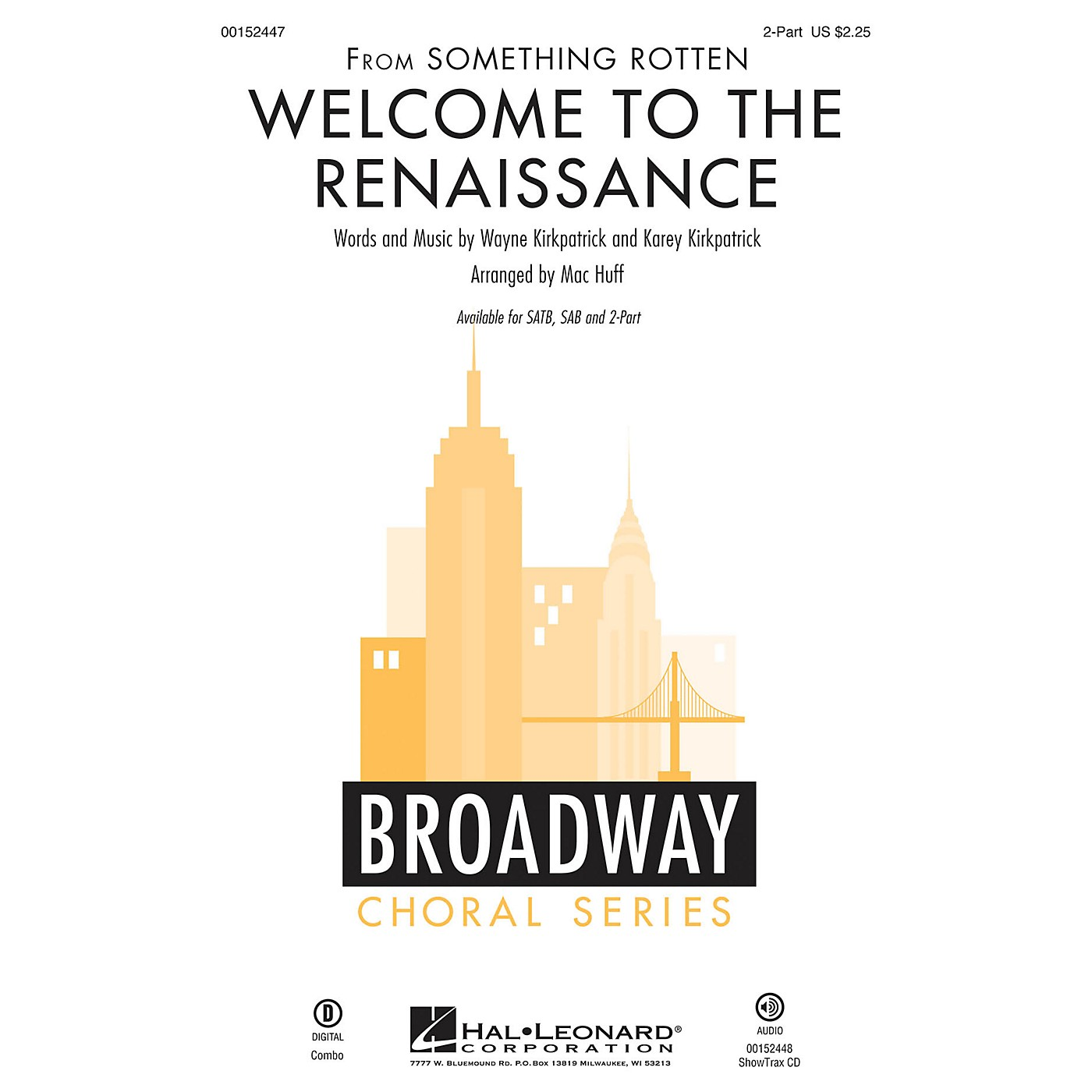 Hal Leonard Welcome to the Renaissance (from Something Rotten) 2-Part arranged by Mac Huff thumbnail