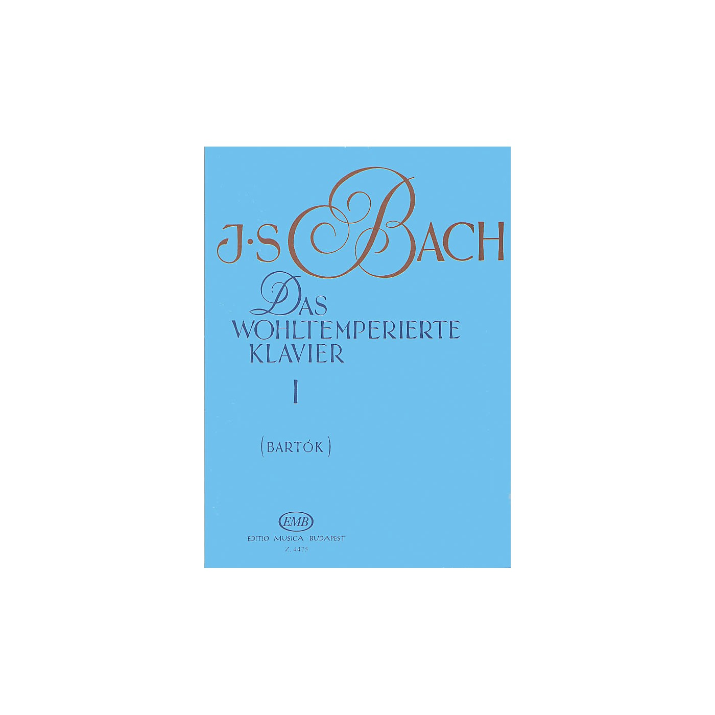 Editio Musica Budapest Well Tempered Clavier - Volume 1 BWV 846-869 EMB Series Composed by Johan Sebastian Bach thumbnail