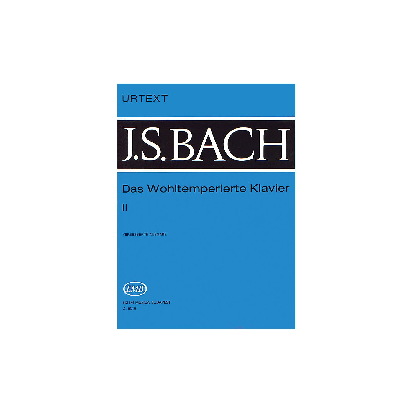 Editio Musica Budapest Well Tempered Clavier - Volume 2 BWV 870-893 EMB Series Composed by Johan Sebastian Bach thumbnail