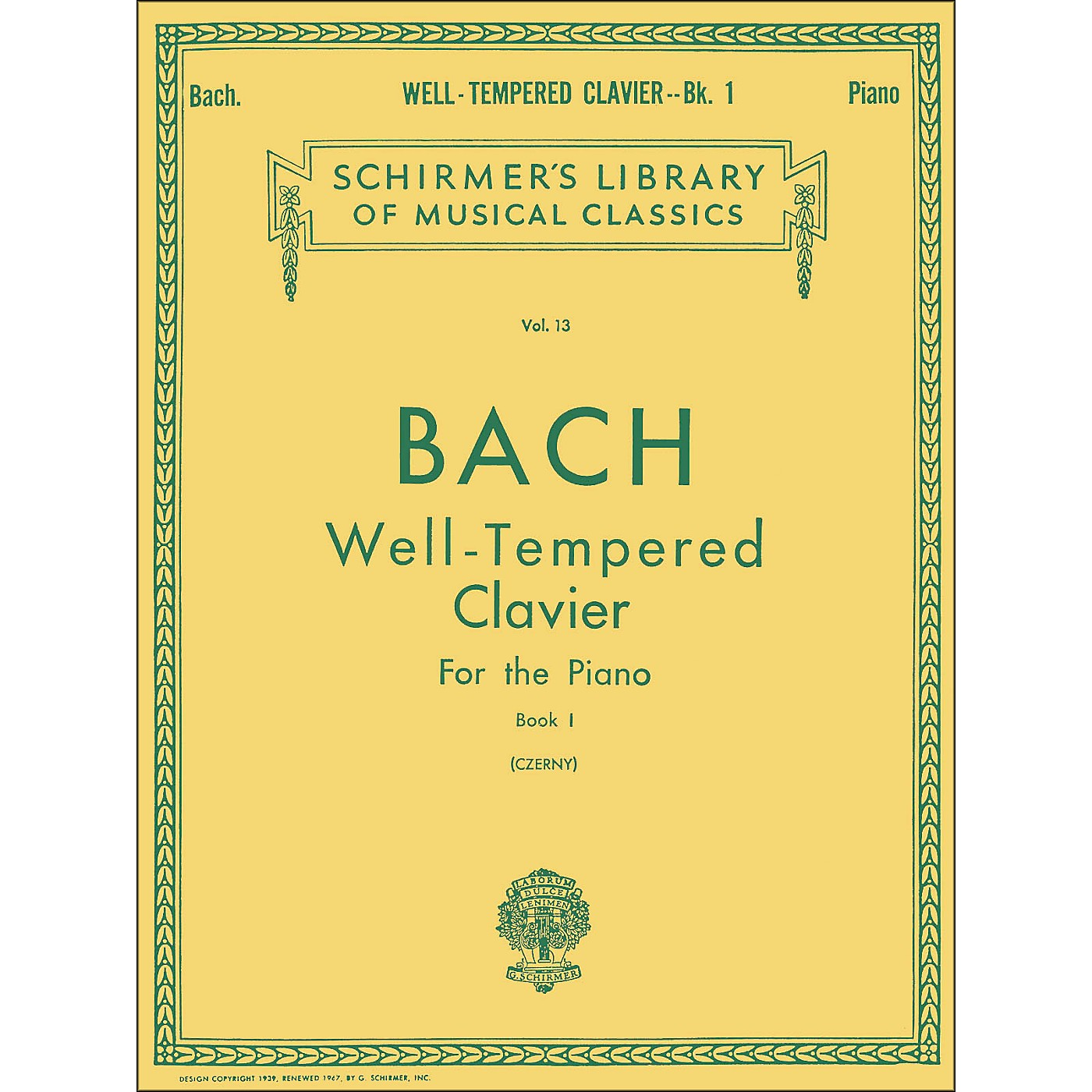 G. Schirmer Well Tempered Clavier Book 1 Piano By Bach thumbnail