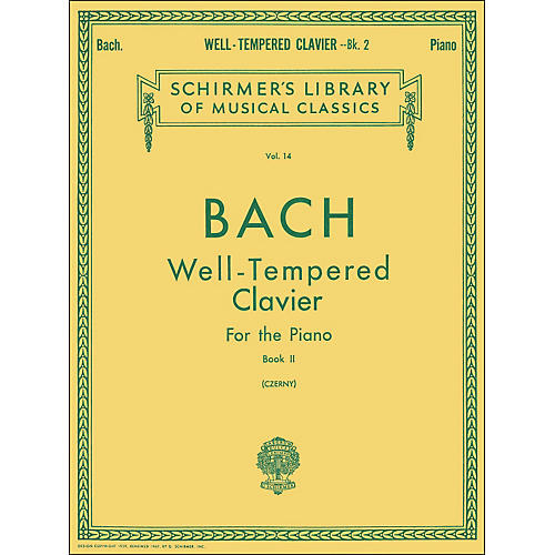 G. Schirmer Well Tempered Clavier Book 2 Piano Solo By Bach-thumbnail