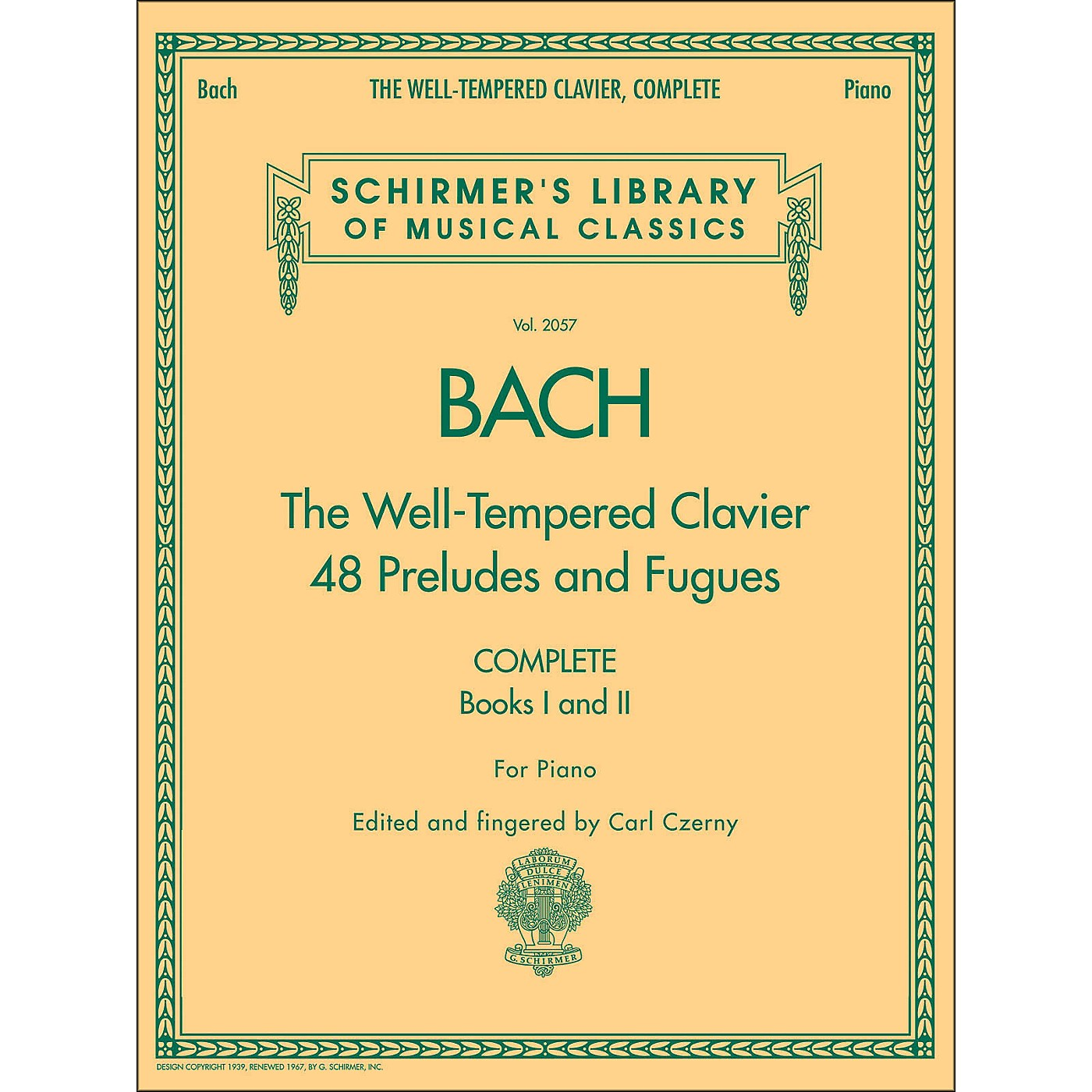 G. Schirmer Well-Tempered Clavier Complete Books 1 & 2 for Piano By Bach thumbnail