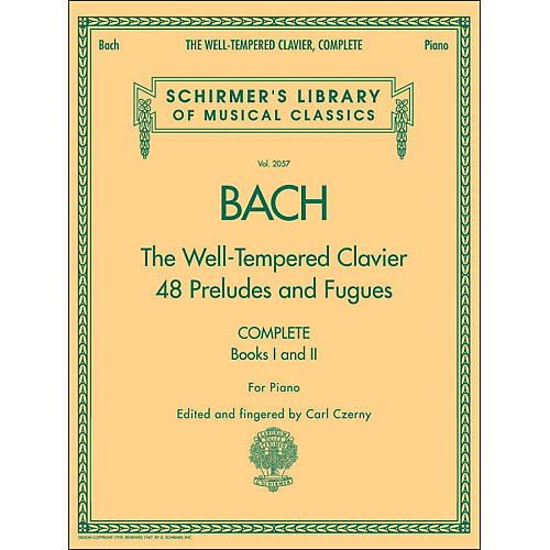 G. Schirmer Well-Tempered Clavier Complete Books 1 & 2 for Piano By Bach-thumbnail