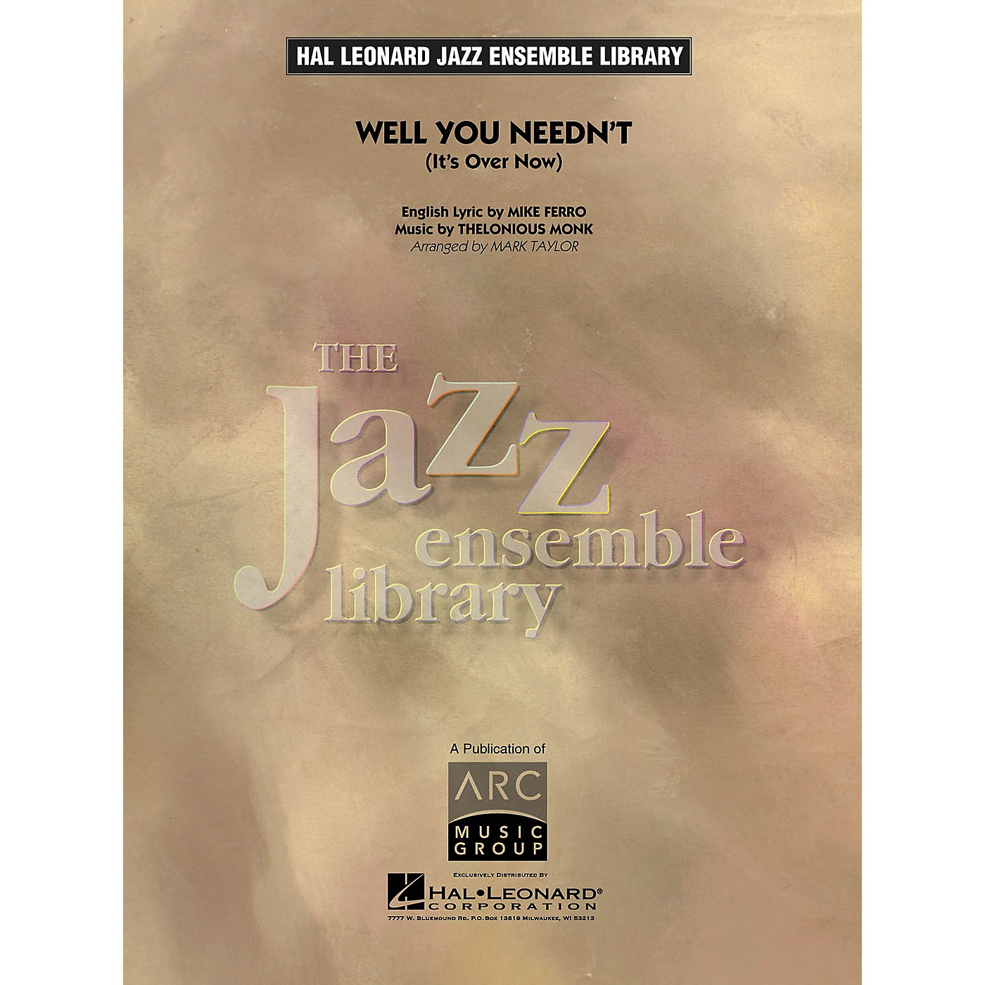 Hal Leonard Well You Needn't Jazz Band Level 4 Arranged by Mark Taylor thumbnail