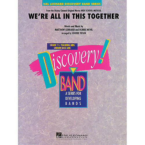 Hal Leonard We're All in This Together (from High School Musical) Concert Band Level 1.5 Arranged by Johnnie Vinson thumbnail